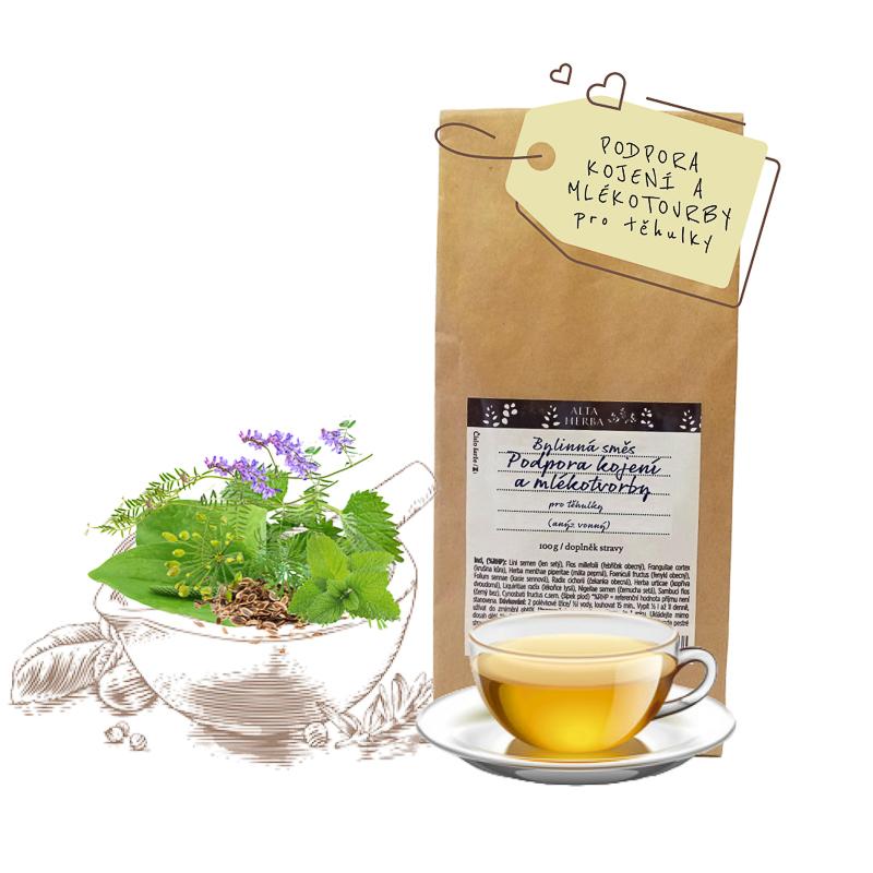 Bylinná čajová směs těhulky, kojení a mlékotvorba