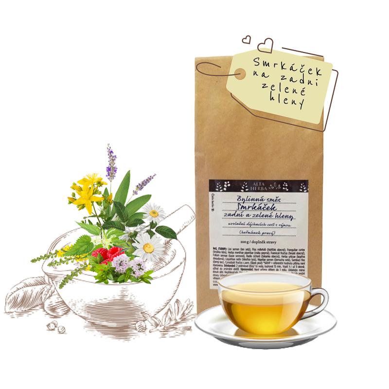 Bylinná čajová směs smrkáček - na zadní zelené hleny