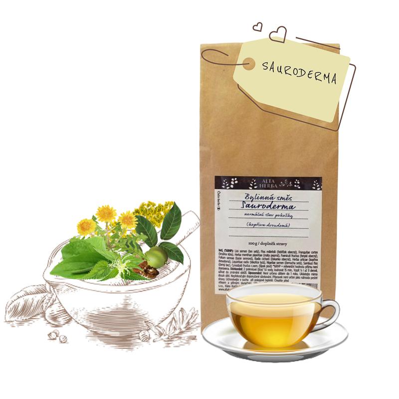 Čajová bylinná směs Sauroderma - zdravá pokožka