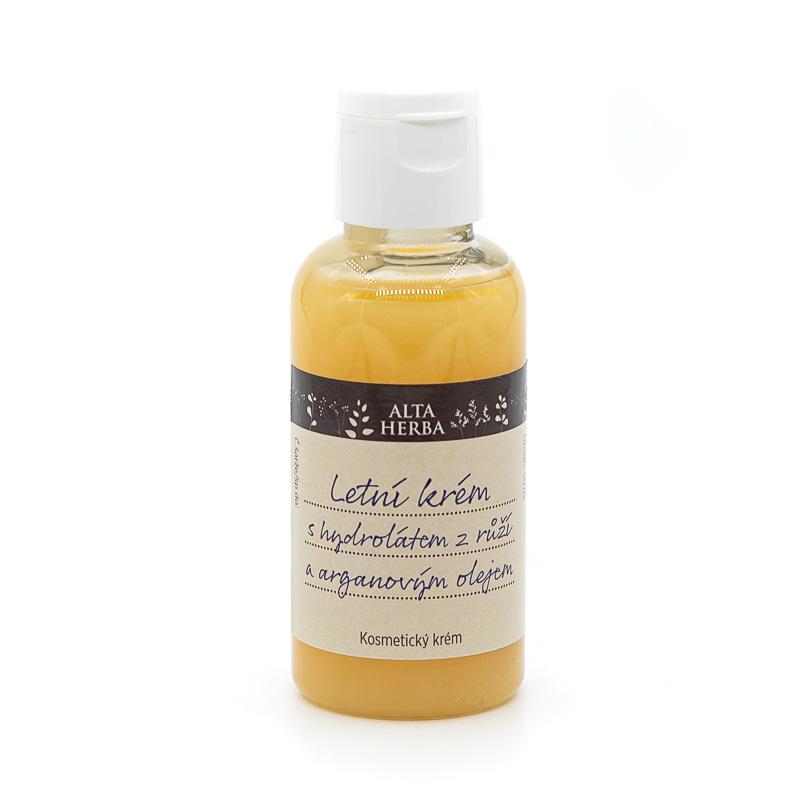 Letní krém s hydrolátem z růží a arganovým olejem