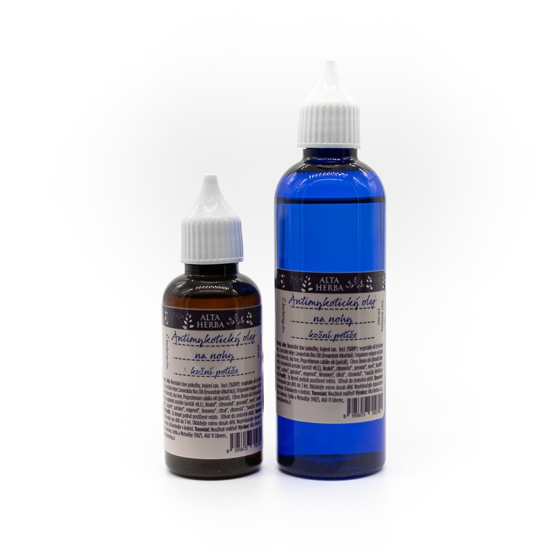 Antimykotický olej na nohy, nehty