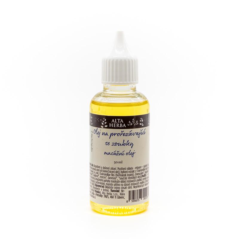 Olej na prořezávající se zoubky
