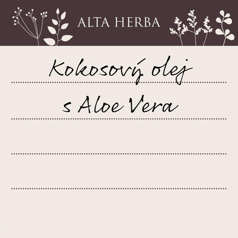 Kokosový olej s Aloe Vera
