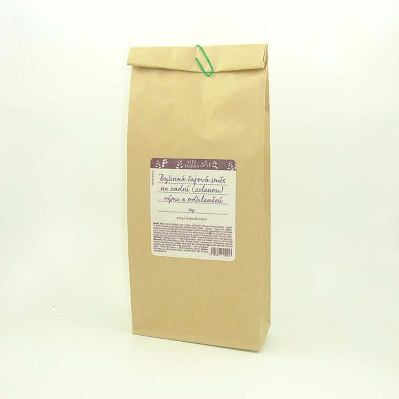 Bylinná čajová směs na zadní (zelenou) rýmu a odhlenění